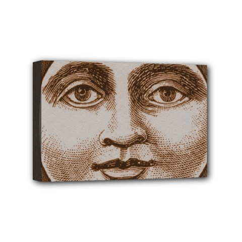 Moon Face Vintage Design Sepia Mini Canvas 6  X 4