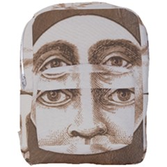 Moon Face Vintage Design Sepia Full Print Backpack