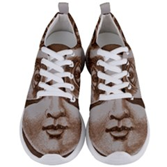 Moon Face Vintage Design Sepia Men s Lightweight Sports Shoes