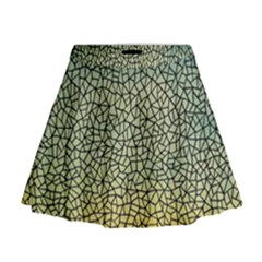 Background Cubism Mosaic Vintage Mini Flare Skirt
