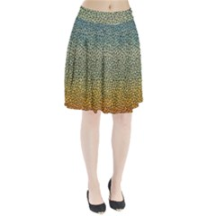 Background Cubism Mosaic Vintage Pleated Skirt