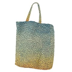 Background Cubism Mosaic Vintage Giant Grocery Zipper Tote