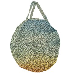 Background Cubism Mosaic Vintage Giant Round Zipper Tote