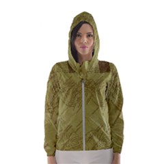 Vintage Map Background Paper Hooded Wind Breaker (women)