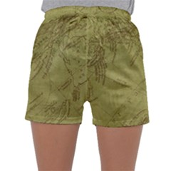 Vintage Map Background Paper Sleepwear Shorts