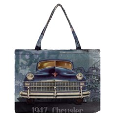 Vintage Car Automobile Zipper Medium Tote Bag
