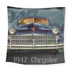 Vintage Car Automobile Square Tapestry (large)