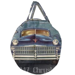 Vintage Car Automobile Giant Round Zipper Tote