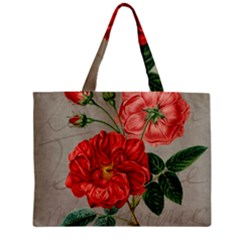 Flower Floral Background Red Rose Zipper Mini Tote Bag by Nexatart