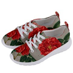 Flower Floral Background Red Rose Women s Lightweight Sports Shoes by Nexatart