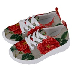 Flower Floral Background Red Rose Kids  Lightweight Sports Shoes by Nexatart