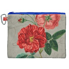Flower Floral Background Red Rose Canvas Cosmetic Bag (xxl) by Nexatart