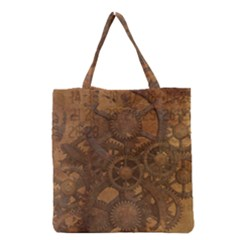 Background Steampunk Gears Grunge Grocery Tote Bag