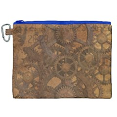 Background Steampunk Gears Grunge Canvas Cosmetic Bag (xxl) by Nexatart