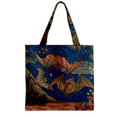Bats Cubism Mosaic Vintage Grocery Tote Bag by Nexatart