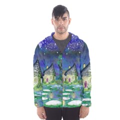 Background Fairy Tale Watercolor Hooded Wind Breaker (men) by Nexatart