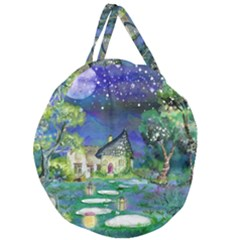 Background Fairy Tale Watercolor Giant Round Zipper Tote