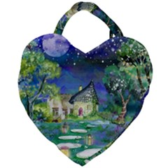 Background Fairy Tale Watercolor Giant Heart Shaped Tote
