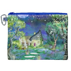 Background Fairy Tale Watercolor Canvas Cosmetic Bag (xxl) by Nexatart