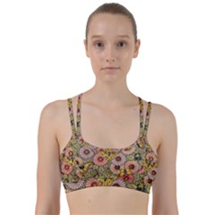 Flower Butterfly Cubism Mosaic Line Them Up Sports Bra