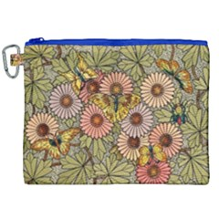 Flower Butterfly Cubism Mosaic Canvas Cosmetic Bag (xxl) by Nexatart