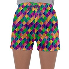 Background Geometric Triangle Sleepwear Shorts