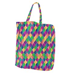 Background Geometric Triangle Giant Grocery Zipper Tote