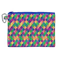 Background Geometric Triangle Canvas Cosmetic Bag (xl) by Nexatart