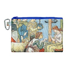 Vintage Princess Prince Old Canvas Cosmetic Bag (large) by Nexatart
