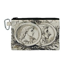 Young Old Man Weird Funny Canvas Cosmetic Bag (medium)