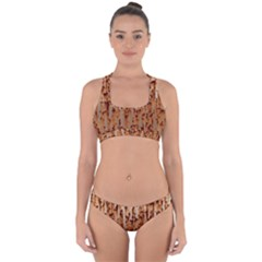 Stainless Rusty Metal Iron Old Cross Back Hipster Bikini Set