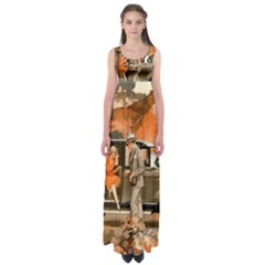 Car Automobile Transport Passenger Empire Waist Maxi Dress