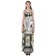 Vintage People Party Celebrate Empire Waist Maxi Dress