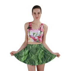 Green Geological Surface Background Mini Skirt