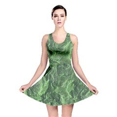 Green Geological Surface Background Reversible Skater Dress