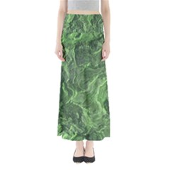 Green Geological Surface Background Full Length Maxi Skirt