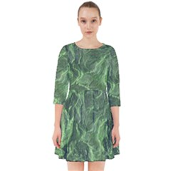 Green Geological Surface Background Smock Dress