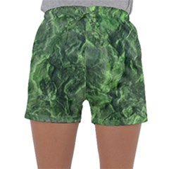 Green Geological Surface Background Sleepwear Shorts
