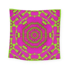 Fern Forest Star Mandala Decorative Square Tapestry (small) by pepitasart