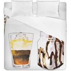 Coffee And Milkshakes Duvet Cover Double Side (king Size)
