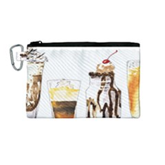 Coffee And Milkshakes Canvas Cosmetic Bag (medium) by KuriSweets