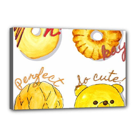 Cute Bread Canvas 18  X 12  by KuriSweets