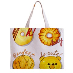Cute Bread Zipper Mini Tote Bag by KuriSweets