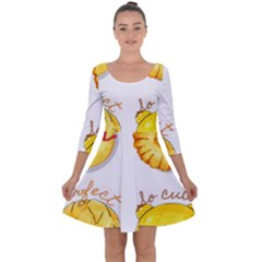 Bread Stickers Quarter Sleeve Skater Dress by KuriSweets