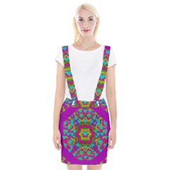 Hearts In A Mandala Scenery Of Fern Braces Suspender Skirt