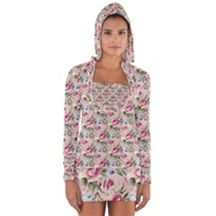 Cute Floral 218a Long Sleeve Hooded T-shirt by MoreColorsinLife