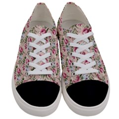 Cute Floral 218a Women s Low Top Canvas Sneakers