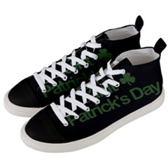 St  Patricks Day  Men s Mid Top Canvas Sneakers by Valentinaart