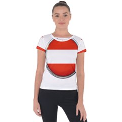 Austria Country Nation Flag Short Sleeve Sports Top