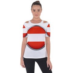 Austria Country Nation Flag Short Sleeve Top